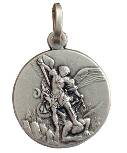 Medalla de San Miguel Arcángel En Plata Maciza 925