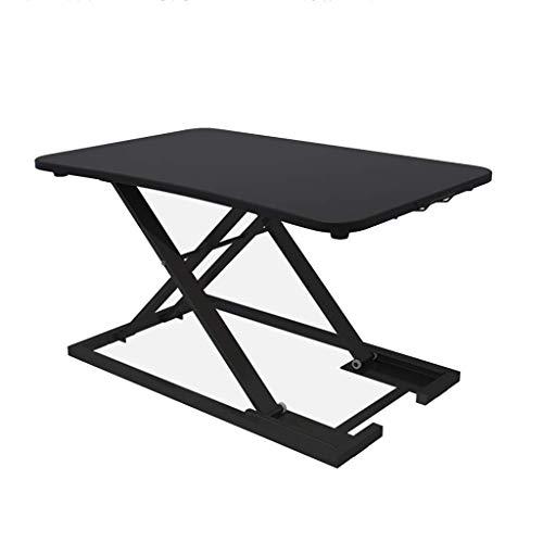 ADSE Escritorio de la computadora Mesa Plegable de Oficina de pie Que se Puede Subir y Bajar Mesa Soporte para portátil Mesa de Trabajo de pie con Escritorio, Mesa de té