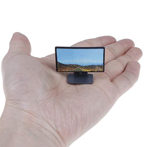 Puppenhaus Miniatur-Wide Screen Tv Mit LCD-flachbildschirm-tv Klassischen Rollenspiel Spielzeug Puppenhaus Zubehör