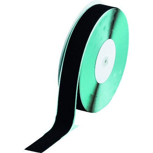 TRUSCO(トラスコ) マジックテープ 糊付A側 50mm×25m 黒 TMAN-5025-BK