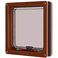 Suitable for very large cats or small dogs (yorkshire terriers, pekinese, dachshunds etc.). For all doors, panels and walls up to 50 mm thick Sliding interlock which cannot be manipulated With sturdy, transparent polymer flap Draught-free weather-res...