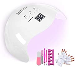 48W LED Nail Lamp, DIOZO Portable Nail Dryer Manicure/Pedicure Curing Lamp with 30s 60s 99s Timer Plus Anti-UV Gloves Gift Suitable for Fingernails and Toenails, Home and Salon