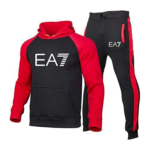 FZYQY Survêtement Homme Ensemble Sweat-Shirt à Capuche et Pantalon de Sport Jogging 2 pièces Chaud à Capuche avec Marque imprimée Vêtements décontractés d'extérieur/A/S