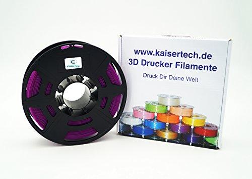Kaisertech Filament für 3D Drucker 1kg PLA 1.75mm Lila - Premium Qualität Spule Rolle