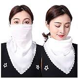 KOMI Pañuelos para orejas colgantes con protección solar, protector facial con velo de cara completa transpirable de verano para mujer