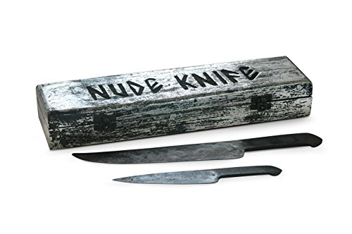 Forged in Fire from Steel File : Vintage Knife Set : Cave Man Collection - Natural Shape Fixed Handle Knives. Specialty Carbon Steel Knives for Hunters to Process Carcass