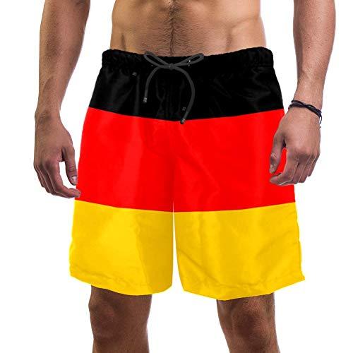 Eslifey Herren Strand Shorts Flagge Deutschland Badehose elastisch Badeanzug Boardshorts für Herren, L Gr. S 7-9, multi