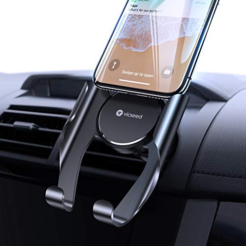 VICSEED Phone Holder for Car, Air Vent Car Phone Holder Mount, Handsfree Cell Phone Holder for Car Fit for iPhone 12 Pro Max SE 11 Pro Max XR Xs Max Xs X 8 Plus Samsung Note 20 S20 S10 LG Google Etc.