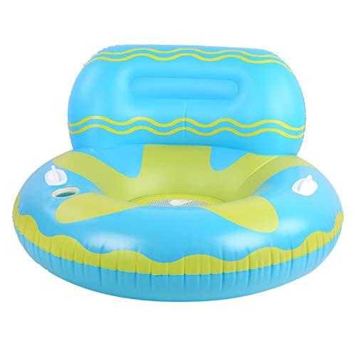 BOTEGRA Balsa de Piscina, Flotador de Piscina Inflable Diseño de Malla Media Ecológico y Seguro para Piscina para Nadar al Aire Libre para Fiestas