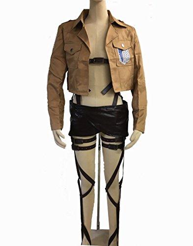 進撃の巨人 調査兵団 全身 ベルト ジャケット 腰巻き 3点セット コスプレ衣装 男女兼用 フリーサイズ