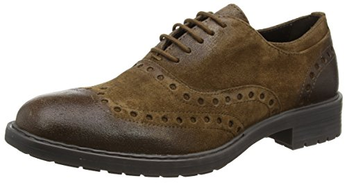 Geox U KAPSIAN A, Zapatos de Vestir Hombre, Marrón (Ebony), 44 EU