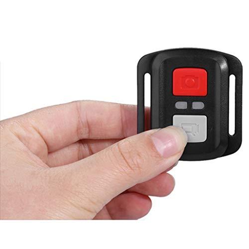 bibididi Negro Impermeable inalámbrico 2.4G Obturador de Control Remoto para Eken H9R H8R H6S H7S H5S Plus Sport Action Camera Dv Controller, Control Remoto 2.4Ghz