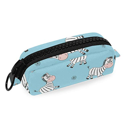 Zebra Big Capacity Pencil Pen Case Bag Pouch Holder for Middle High School Office College Girl Adult Large Storage