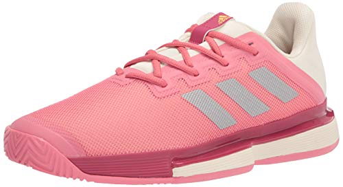 adidas Women's Solematch Bounce Hazy Rose/Silver Metallic/Acid Orange 9.5