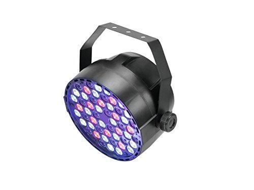 Eurolite LED Big PARty Spot | Scheinwerfer mit 54 x 1-Watt-LED in R, G, B, W und DMX | Bedienbar im Standalone-Modus oder über DMX | Musiksteuerung über eingebautes Mikrofon