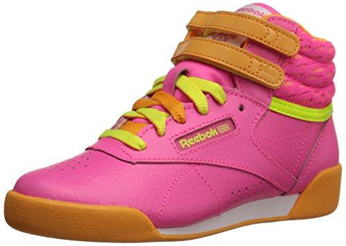 Reebok Freestyle High Classic Zapatilla (Niño Pequeño/Niño Grande), color Rosa, talla 37 1/3 EU
