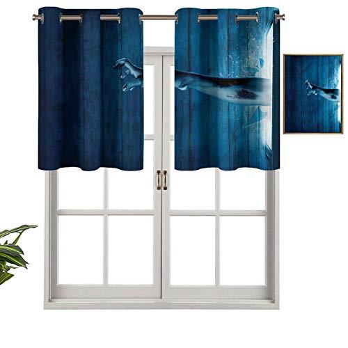 Hiiiman Panel térmico para ventana con aislamiento extra corto de longitud Zombi, set de 2, paneles opacos decorativos para el hogar de 137 x 60 cm