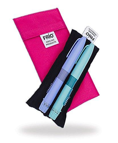FRIO ROSA DOPPEL INSULIN TASCHE -KEIN Eispack oder Batterien nötig, für bis zu 2 Insulinpens in Standardgröße