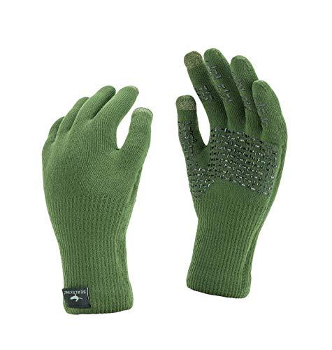 SealSkinz, Handschuhe mit ultrastarkem Griff, wasserdicht Small olivgrün