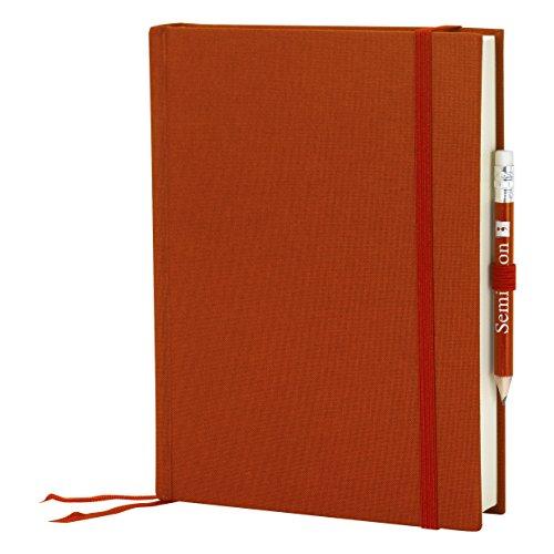 Semikolon (357559) Reisetagebuch Grand Voyage siena (rost-rot) blanko - Tagebuch mit 272 Seiten - 2 Lesezeichen, Weltkarte, uva. - Notizbuch A5