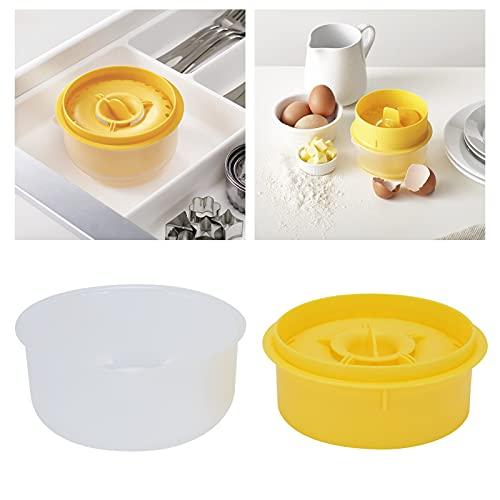 Faceuer Filtro de Clara de Huevo, Cocina plástica eficiente del Separador del Huevo para la Torta para Hornear(Yellow)