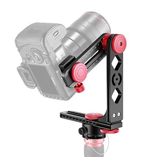 Neewer Gimbal Kopf Panoramakopf Kamera Stativkopf Aluminiumlegierung mit Standard 1/4 Zoll Schnellwechselplatte und Tragetasche Max. Ladung bis zu 22 Pfund