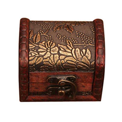 MUY Caja Cuadrada de Madera con bisagras Caja de Almacenamiento de Joyas Organizador de artículos Diversos Caja de Regalo de Mesa de Boda Caja de Recuerdo de Botella de Madera portátil