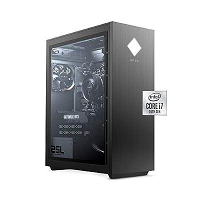 OMEN 25L Gaming Desktop PC, Intel Core i7-10700F, NVIDIA GeForce RTX 2060, HyperX 16 GB DDR4 RAM,1 TB SATA Hard Drive & 512 GB PCIe NVMe SSD Storage, RGB Lighting (GT12-0060, 2020 Model)