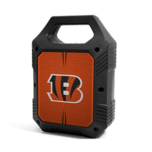 Prime Brands Group NFL Cincinnati Bengals ShockBox XL kabelloser Bluetooth-Lautsprecher, Team-Farbe
