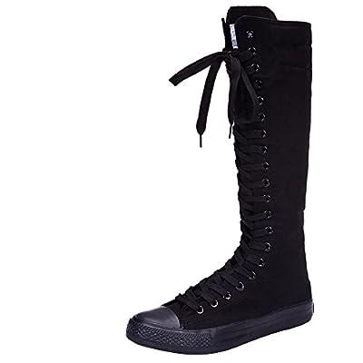 knee high black converse