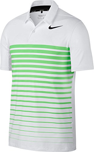 Nike Herren Poloshirt 854258 M Mehrfarbig (weiß/grün)
