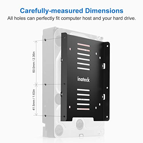 Inateck Festplattenhalterung 2,5 Zoll auf 3,5 Zoll Adapter mit SATA-Datenkabel, für SSD und HDD, SA04006