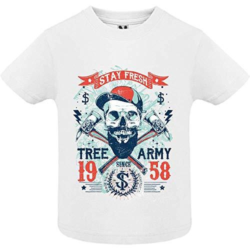 LookMyKase T-Shirt - Tree Army - Bébé Garçon - Blanc - 2ans