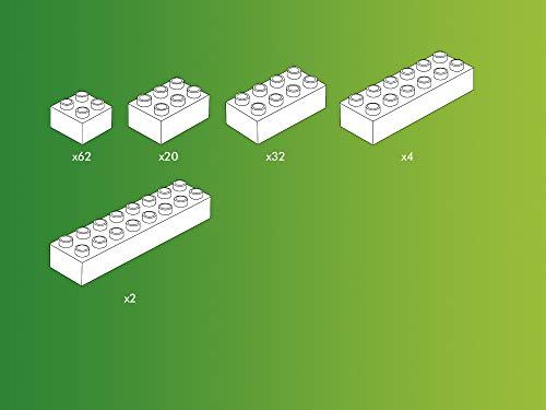 Hubelino-120-teiliges Bausteine Set Bloques, Color Compatible (400390)
