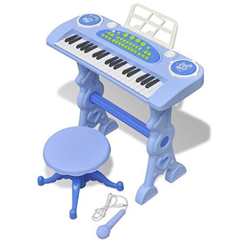 vidaXL Piano avec 37 Touches et Tabouret Microphone Jouet Enfants Instrument