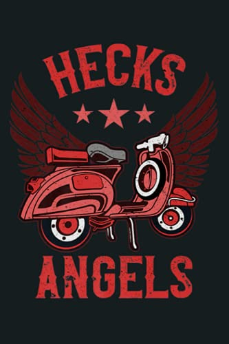 Hecks Angels Funny Scooter Gift Vintage Moped Graphic Premium: Notebook Planner - 6x9 inch Daily Planner Journal, To Do List Notebook, Daily Organizer, 114 Pages