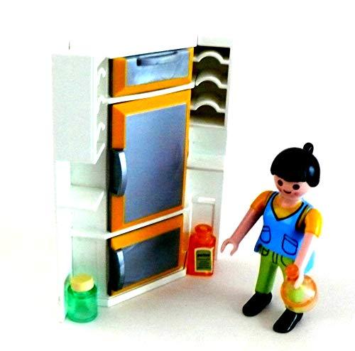 Playmobil ® Küche mit Kühlschrank Gefrierfach Schublade Ecke der Einbauküche