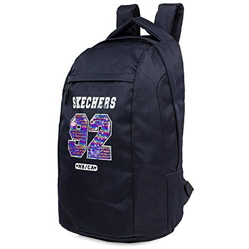 Skechers Rucksack Typ Casual Unisex Erwachsene mit Innentasche iPad Tablet für den täglichen Gebrauch, komfortabel, vielseitig verwendbar, S898, Schwarz, Einheitsgröße