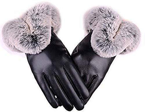 A literary youth Kinder Handschuhe,Handschutz Frau, die warme und samtige Smart-Touchscreen-Fingerhandschuhe @ Schwarz reitet