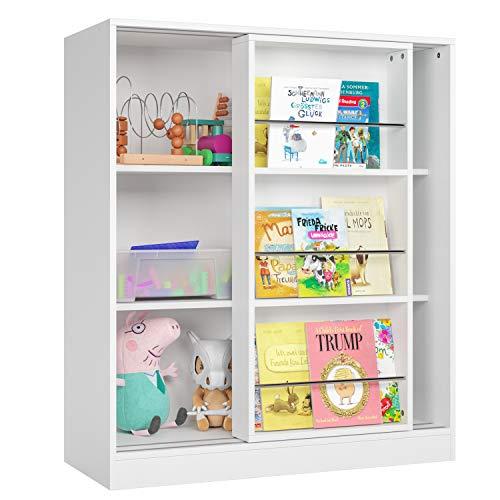 Homfa Kids Bookcase 3 Tier, Toy ...