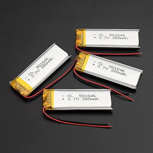TTCPUYSA 3.7v 380mah 501646 Li Po Batería De Litio De PolíMero, Recharegable...