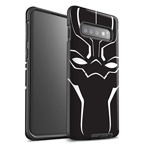 eSwish beschermhoes, mat, robuust, schokbestendig, voor Samsung Galaxy S10 Plus/masker design/panter, zwart, geïnspireerd