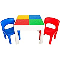 PlayBuild Kids 4 in 1 Play & Build Table Set for Indoor Activity