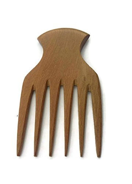 上げるヘルメット顕微鏡Plai Na natural wood comb afro pick handmade for thick and curly hair [並行輸入品]