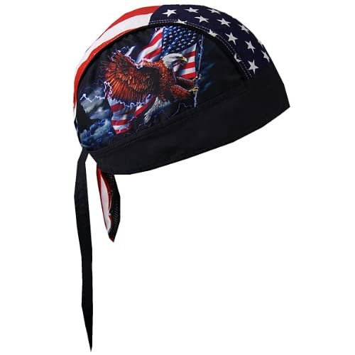 Men 5 Styles Bandana Head Wrap Pirates Biker Hat Cap Rag Motorcycle Spider Cool