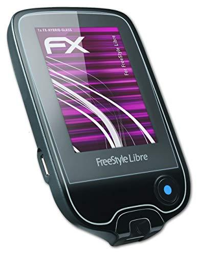 atFolix Glasfolie kompatibel mit Freestyle Libre Panzerfolie, 9H Hybrid-Glass FX Schutzpanzer Folie