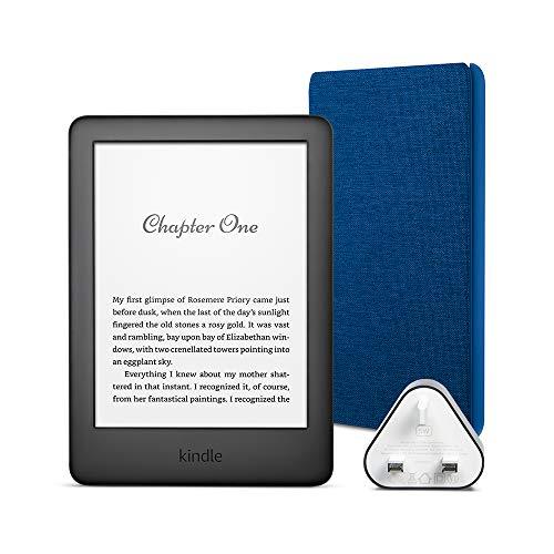 Kindle Essentials Bundle includes Kindle E-Reader (Black) with Special...