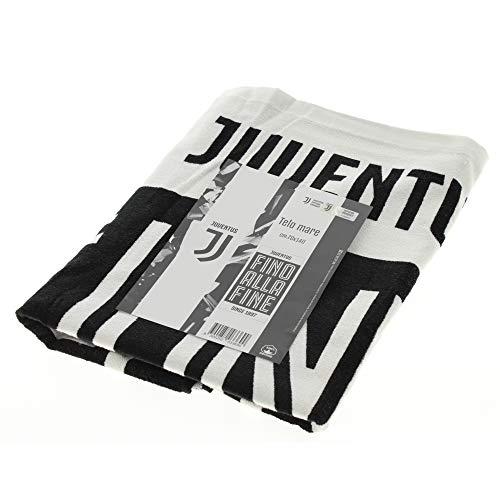 Juventus Asciugamano Ufficiale F.C 2019 Telo Mare Juve Spugna Puro Cotone 70x140 cm