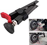 JFG RACING Motorcycle Rear Wheel Lift Stand Portable Adjustable Wheel Stand Universal for Chain Cleaning Chain Lubrication-Red