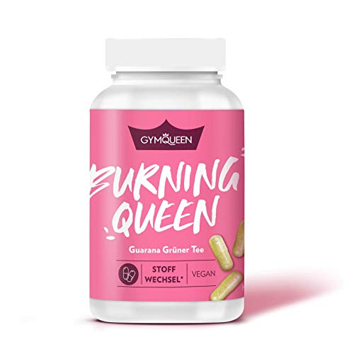 GYMQUEEN Burning Queen 100 Kapseln | Guarana + Grüner Tee + Grüner Kaffee | Unterstützt den Stoffwechsel | mit Vitamin B und Zink